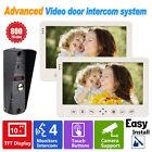 "10"" HD Video Door Phone Intercom System Doorbell Camera Monitor Access Control"