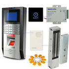 1200LBS Mag Lock Bio Fingerprint Time Attendance Control System KitsTouch Exit