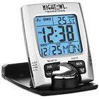 Travel Alarm Clock Digital LCD Folding Calendar Indoor Temperature Display Stand