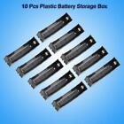 10Pcs Useful Wired Connector 1x3.7V 18650 Battery Holder Plastic Storage Box OB