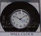 "New 10"" Modern Wall Clock  Black Round city lighted buildings Art home office De"