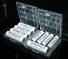 2 x Hard Plastic Case Holder Storage Box Covers for Rechargeable AA AAA Battery