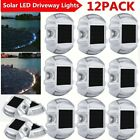 6~12 Pack Solar LED Pathway Driveway Lights Dock Path  Road Safety Markers WT