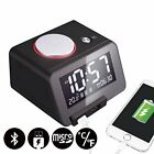 Homtime C1-PRO Music Alarm Clock with Bluetooth Speaker Dual USB Charger for ...