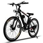"""25"""" Men's Electric Mountain Bike Cycling Bicycle E Bike 250W Free Ship 21 speed"""