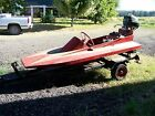 8ft 3 point hydro hydroplane wood boat mercury hurricane engine motor w/ trailer