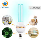 UVC Ultraviolet Germicidal Ozonizer Light UV Bulb Lamp 15w 20W E27 Medium base