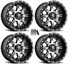 "Fuel Nutz UTV Wheels Black 14"" Honda Pioneer"