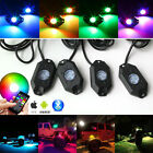 4 Sets of Pod RGB LED Rock Lights Wireless Bluetooth Music Flashing Multi Color