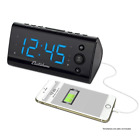 Electrohome Alarm Clock Radio with USB Charging for Smartphones & Tablets includ