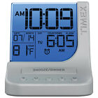 Timex T125SC Colour Changing Alarm Clock with USB Port - Silver(Open Box)
