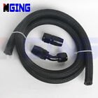 AN10 -10 AN 10 Steel Nylon Braided Oil Fuel Line  Hose 1M + Fitting Kit Adapte