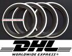 "4x13"" Black White Wall Portawall tyre insert trim set ATLAS"