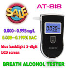 Breathalyzer LCD Digital 818 Breath Alcohol Tester With 10pcs Mouthpeices