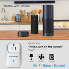 Smart WiFi ON/OFF Electronics Socket Plug Power Outlet Timer Alexa&Voice Control