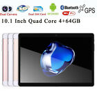 10.1'' Tablet PC Mic WIFI Android 6.0 Octa Core 4+64G 10.1 Inch 2 SIM 4G HD