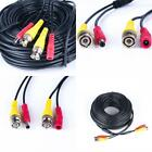 100Ft Black Premade Bnc Video Power Cable / Wire For Security Camera, Cctv, Dvr,