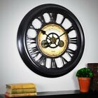 Large Modern Industrial Gear Decorative Wall Clock Home Mantle Decor Analog New