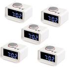 "5X 3.2""Digital FM Radio Dual Alarm Clock&USB Charger+Snooze Temperature Display"