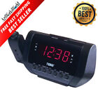 Projection Alarm Clock Radio Digital Led Display Ceiling Wall Projector Dual New
