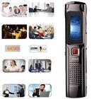 8GB Mini Digital Voice Recorder Steel Stereo Audio Recorder FM Tuner MP3 player
