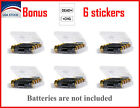 AA/AAA Battery Storage Box Case 6 Pcs Transparent Hard Plastic 4 Cell Holder