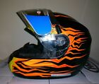 HJC CS-R2 Frameless Electric Snowmobile Helmet Orange Flame XS S M L XL 2X