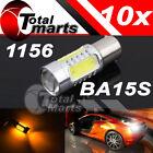 10X amber/Yellow 1156 BA15S P21 7.5W Plasma Projector Led Blub Turn Signal Brake