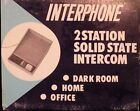 INTERPHONE Vintage 2 Station Solid State Intercom 1960s NEVER USED Made in Japan