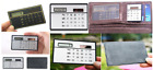 Pocket Calculator Set of 2 Slim Credit Card  Solar Power Small Travel Compact