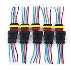 5 Kit 4-Pin 2 Way Scooter Trike Electrical Connectors Plug Wire AWG Waterproof