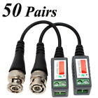 50 Pairs -XU44 CCTV Camera Passive Video Balun BNC Twisted Pair Connector Cable