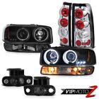 99-02 Sierra GMT800 Smoked fog lights parking brake turn signal ccfl Headlights