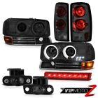 00-06 GMC Yukon XL CCFL Halo Headlights Tail Lights FogLamps Red Third Brake LED