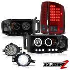 02 03 04 05 Ram V6 V8 Laramie Halo Ring LED Headlights SMD Brake Lamp Trim Fog
