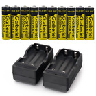 10 PC 18650 Battery 3.7V 6000 mAh Battery With Dual Charger, Rechargeable Batter
