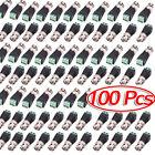100 Pcs -XU Male Coax CAT5 To CCTV Coaxial Camera BNC Male Video Balun Connector