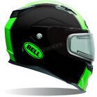 Bell Matte Black/Green Revolver EVO Rally Snow Helmet w/Electric Shield ( 2XL )