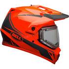 Bell Orange/Black MX-9 Adventure Snow Torch Helmet w/Electric Shield ( Size M )
