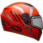 Bell Orange/Titanium Qualifier Blaze Snow Helmet w/Dual Lens Shield ( Size M )