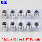 10 x  Male AN10 AN-10 to NPT 1/4'' Female Silver Fuel Hose fitting Tank Adaptor