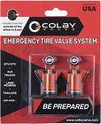 "COLBY CV-EV30 EMERGENCY TIRE VALVES - FITS 0.453"" - ORANGE COLOR - BRAND NEW"