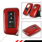 FOR LEXUS 2014-2017 IS KEYLESS ENTRY SMART FOB RED CARBON FIBER SNAP ON CASE