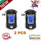 2PCS Advance Digital Breath Alcohol Tester LCD Breathalyzer Analyzer Detector