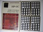 HP-41C Structural Analysis X Pac With Manual & Overlays For HP-41C/CV/CX