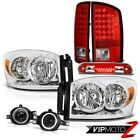 2007 2008 Ram V6 Left Right Headlamps LED Signal Taillamps Foglamps Wine Red 3rd