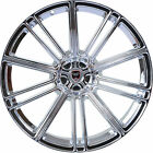 4 GWG Wheels 22 inch Chrome FLOW 22x10.5 Rims fits JEEP LIBERTY 2002 - 2012