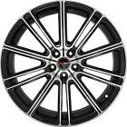 4 GWG Wheels 22 inch Black Machined FLOW Rims fits CHRYSLER 300 AWD 2005 - 2018