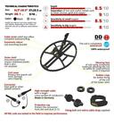 """Nel Thunder 14.5""""x10.5"""" Search Coil for Teknetics T2 Metal Detector +Cover +Bolt"""