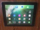 Apple iPad 4th Gen. 16GB, Wi-Fi + Cellular (AT&T), 9.7in - Black w Leather Case!